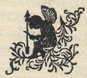 decorative design of fairy silhouette from Kercheval's Valley of Virginia