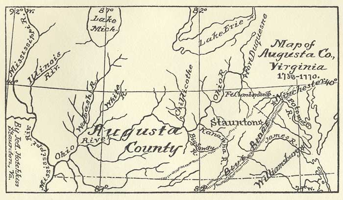 Map of Augusta Co., Virginia 1738-1770 (165kb)