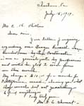 Mrs. N.E. Clement letter to C.K. Hill, July 12, 1919 -- Page 1