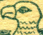 Head of eagle. Detail from imprint on stationery used in letters from Daves to Hill in 1919. In File M7
