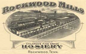 Rockwood Mills engraving on stationery used in 1925 letter from Wright to Hill