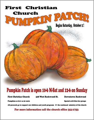 2010 Pumpkin Patch poster by First Christian Church